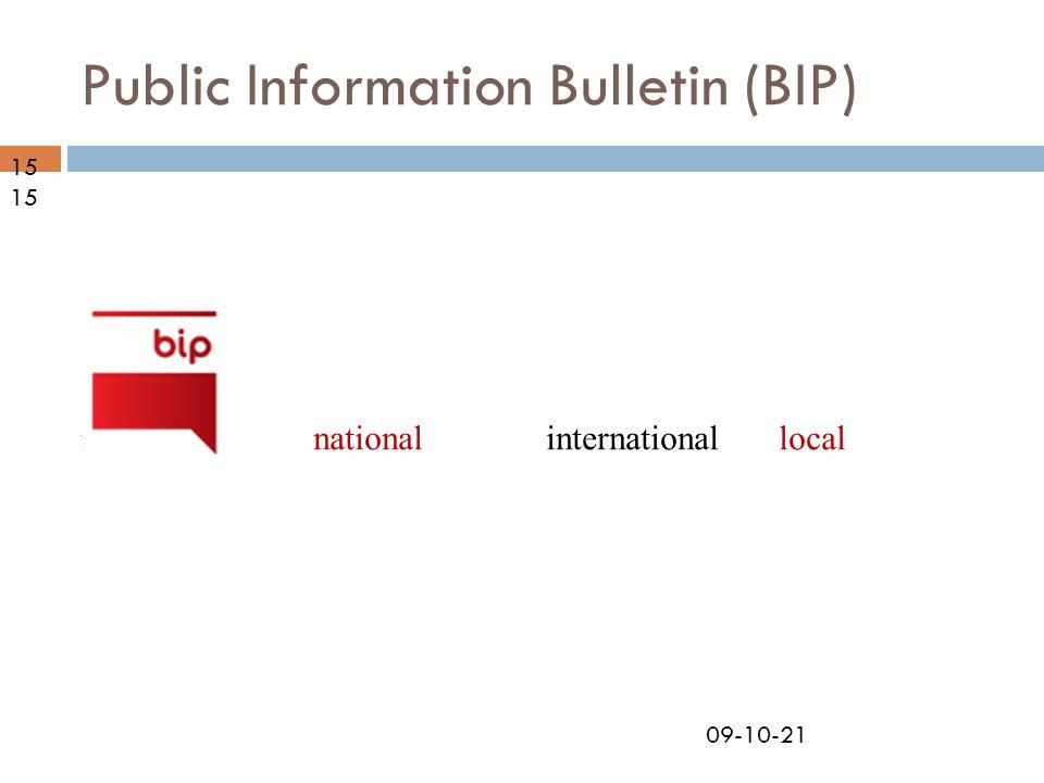 09-10-21 Public Information Bulletin (BIP) nationalregionallocalinternational15