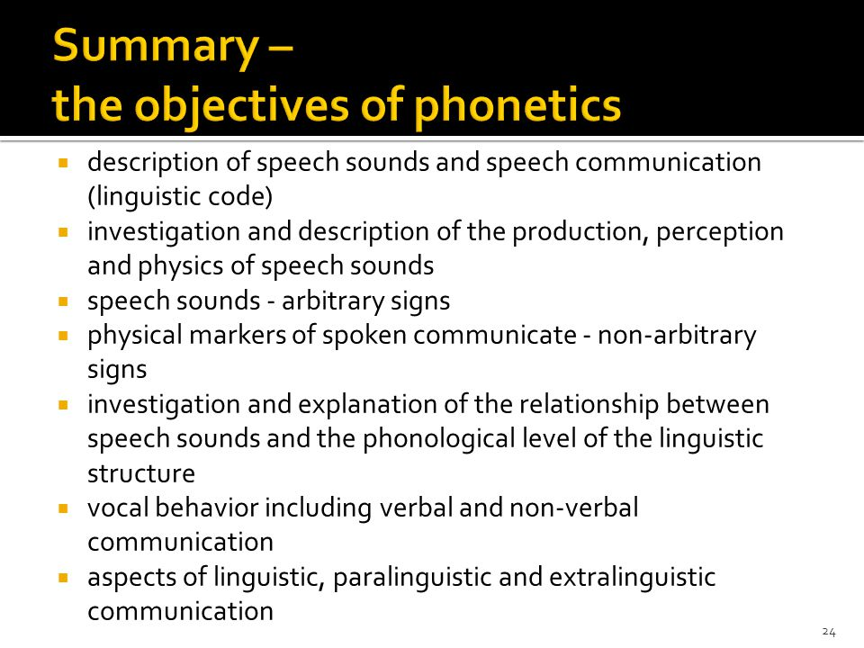 Extralinguistic communication  features of the speech signal that are not involved in the realization of the linguistic or paralinguistic communicati