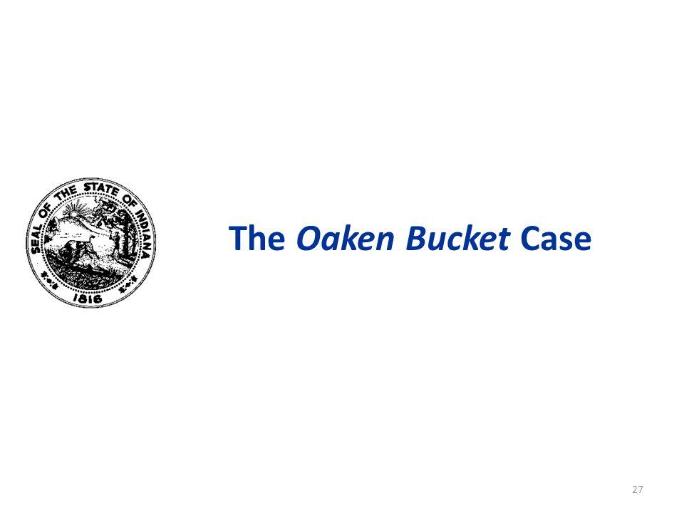 The Oaken Bucket Case 27