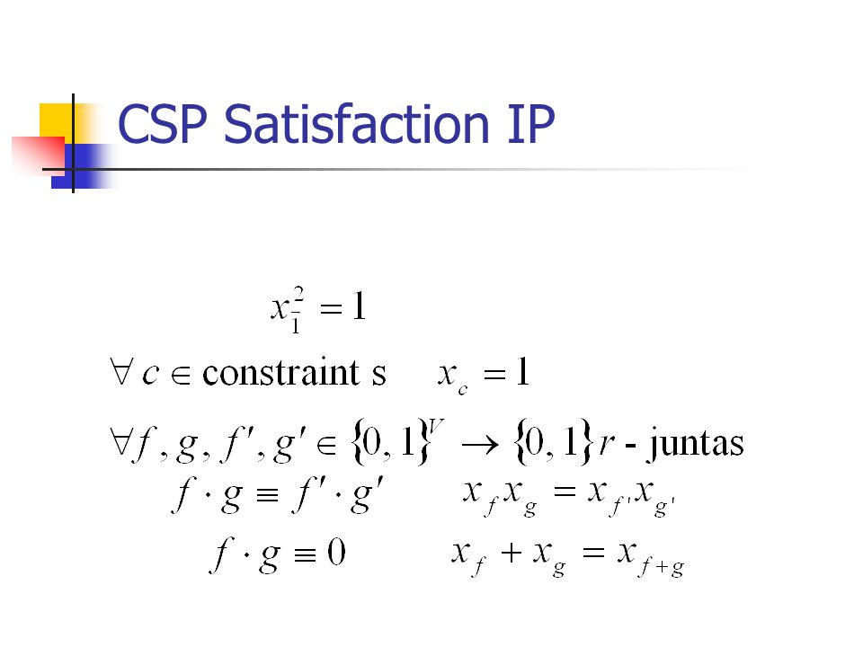 CSP Satisfaction IP
