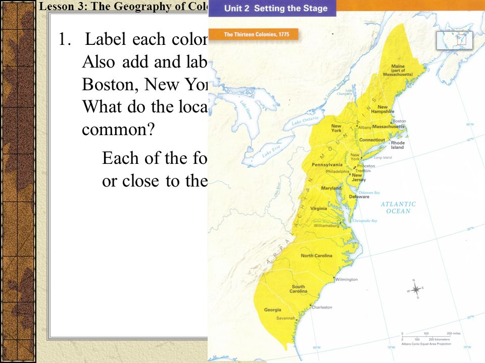 2.Draw and label the Appalachian Mountains on your map.