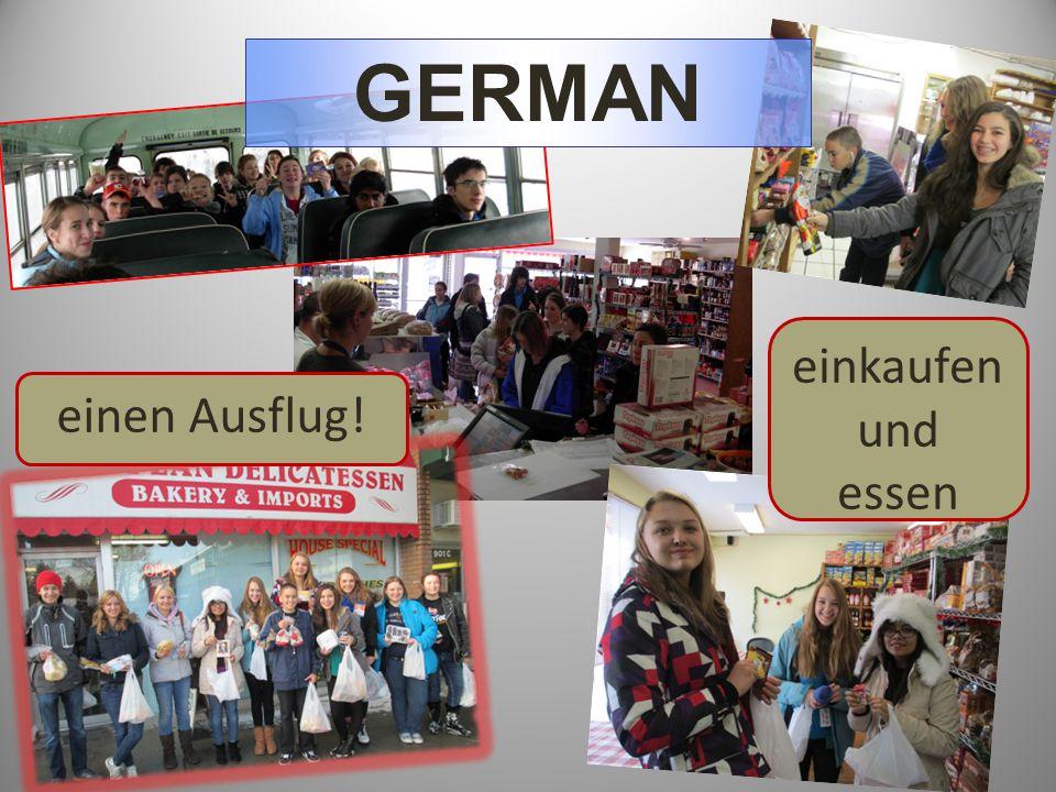 einen Ausflug! GERMAN einkaufen und essen