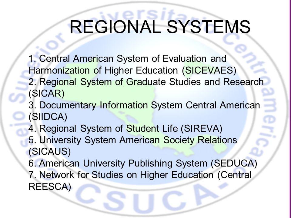 REGIONAL SYSTEMS 1.