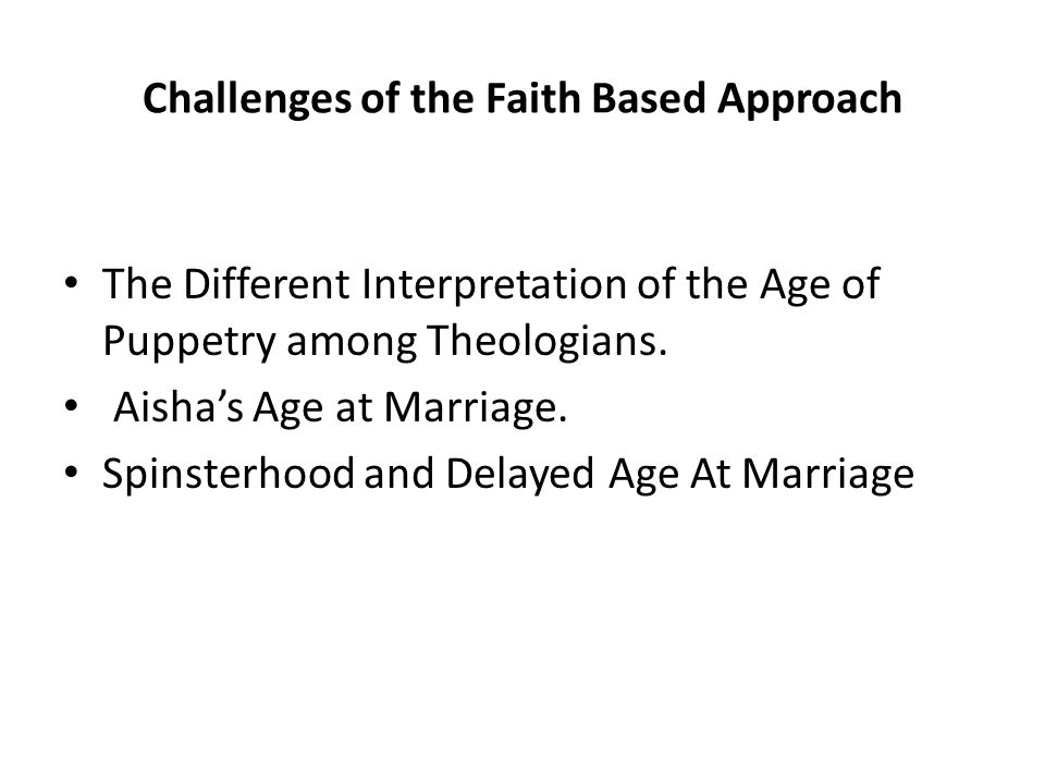 Challenges of the Faith Based Approach The Different Interpretation of the Age of Puppetry among Theologians.