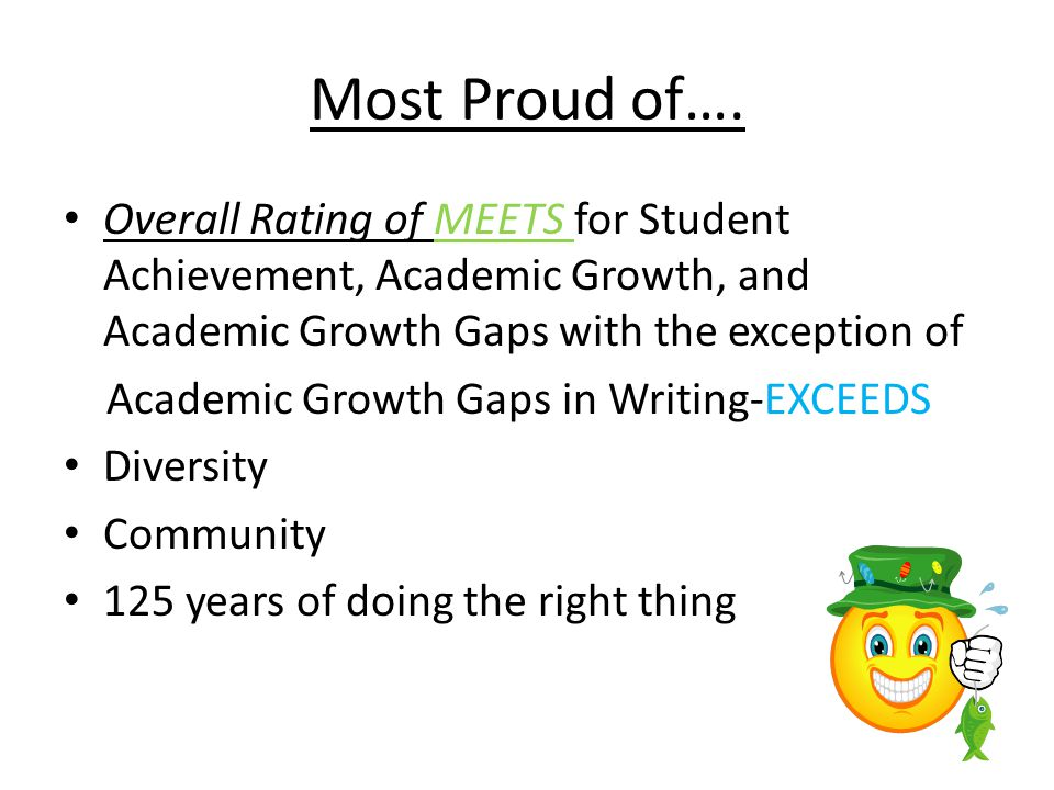 Most Proud of….