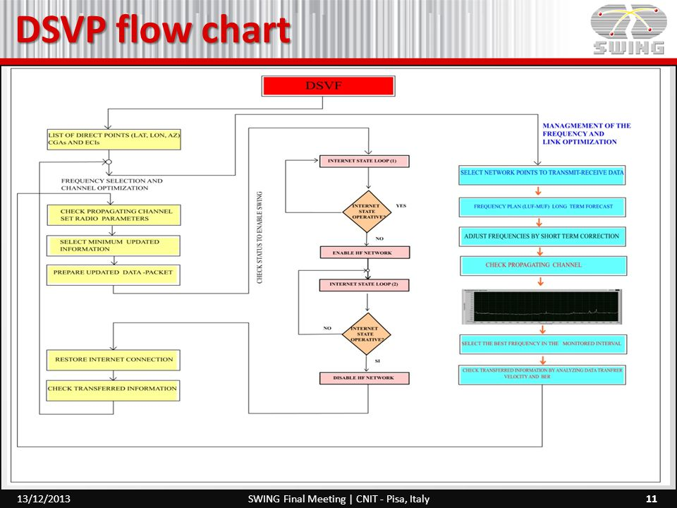 DSVP flow chart 11SWING Final Meeting | CNIT - Pisa, Italy13/12/2013