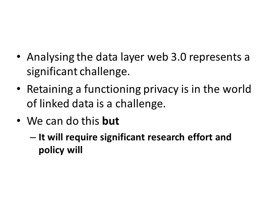 Analysing the data layer web 3.0 represents a significant challenge.