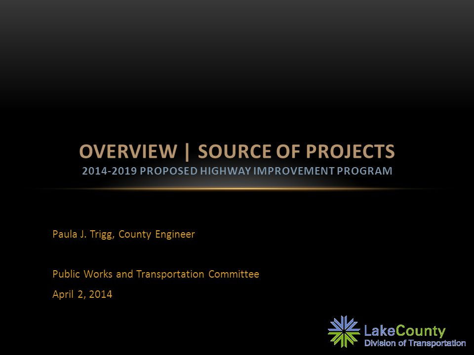 2040 ROADWAY PRIORITIES Peak period trips estimated to increase by 36% between 2010 and 2040 212 miles of roadway Improvements recommended 7 interchange 9 intersection 65 corridor