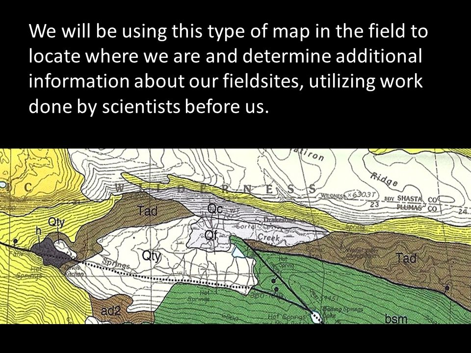 We will be using this type of map in the field to locate where we are and determine additional information about our fieldsites, utilizing work done by scientists before us.