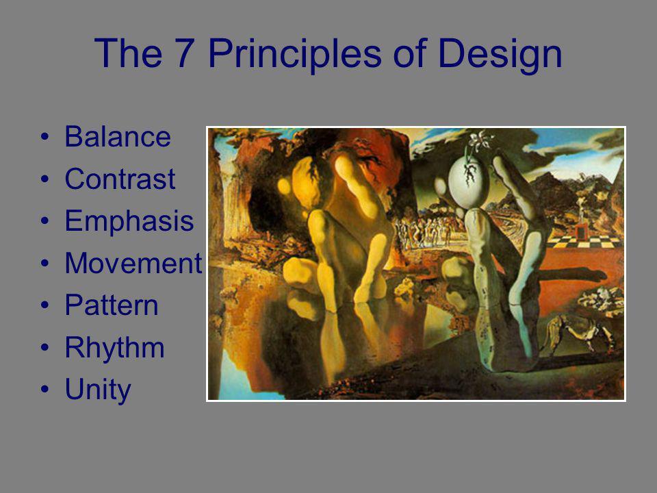 The 7 Principles of Design Balance Contrast Emphasis Movement Pattern Rhythm Unity