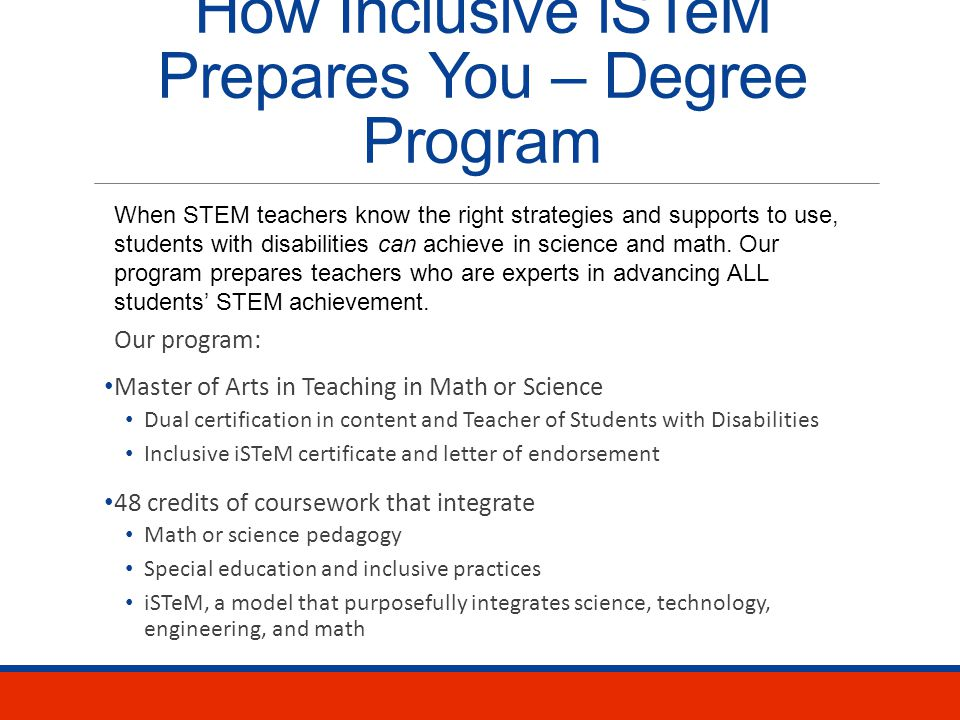 Teach STEM Now Your RoleHow Inclusive iSTeM Prepares You Apply Now