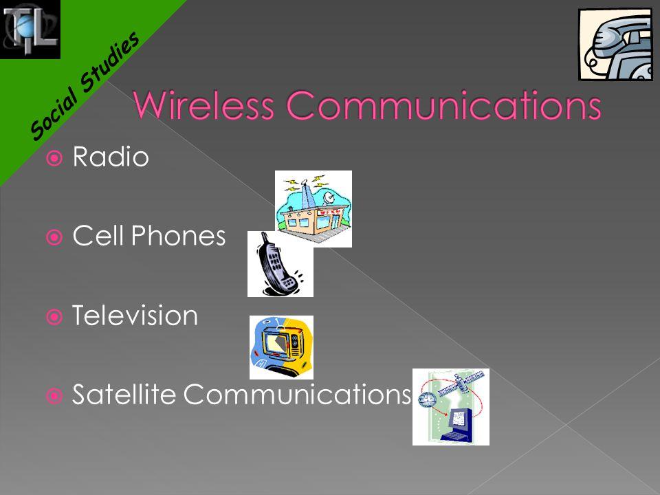  Radio  Cell Phones  Television  Satellite Communications Social Studies