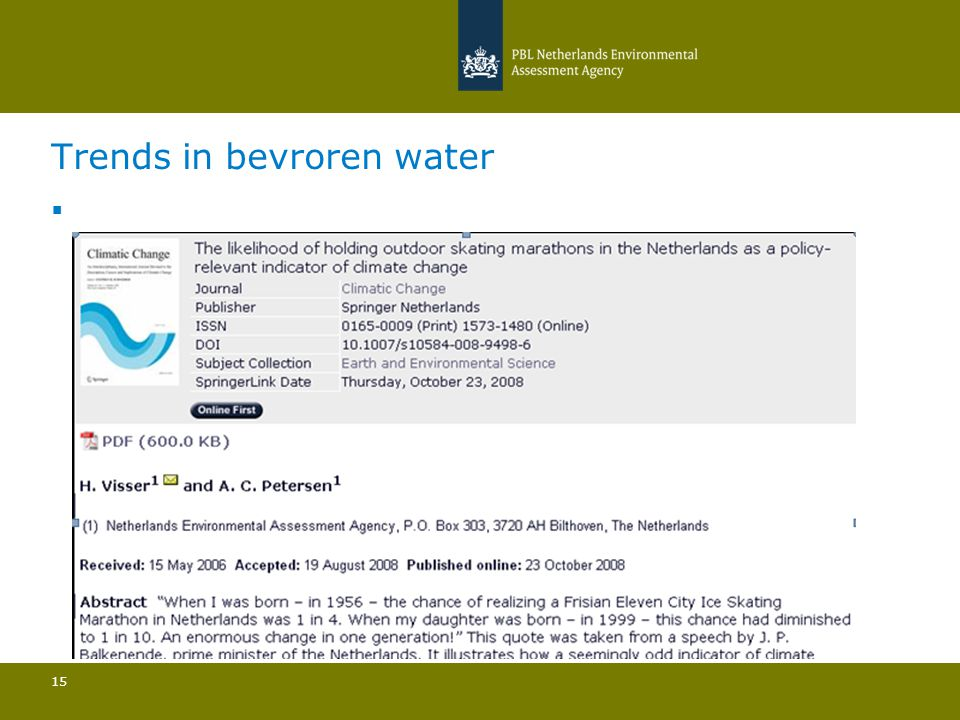 Trends in bevroren water 15