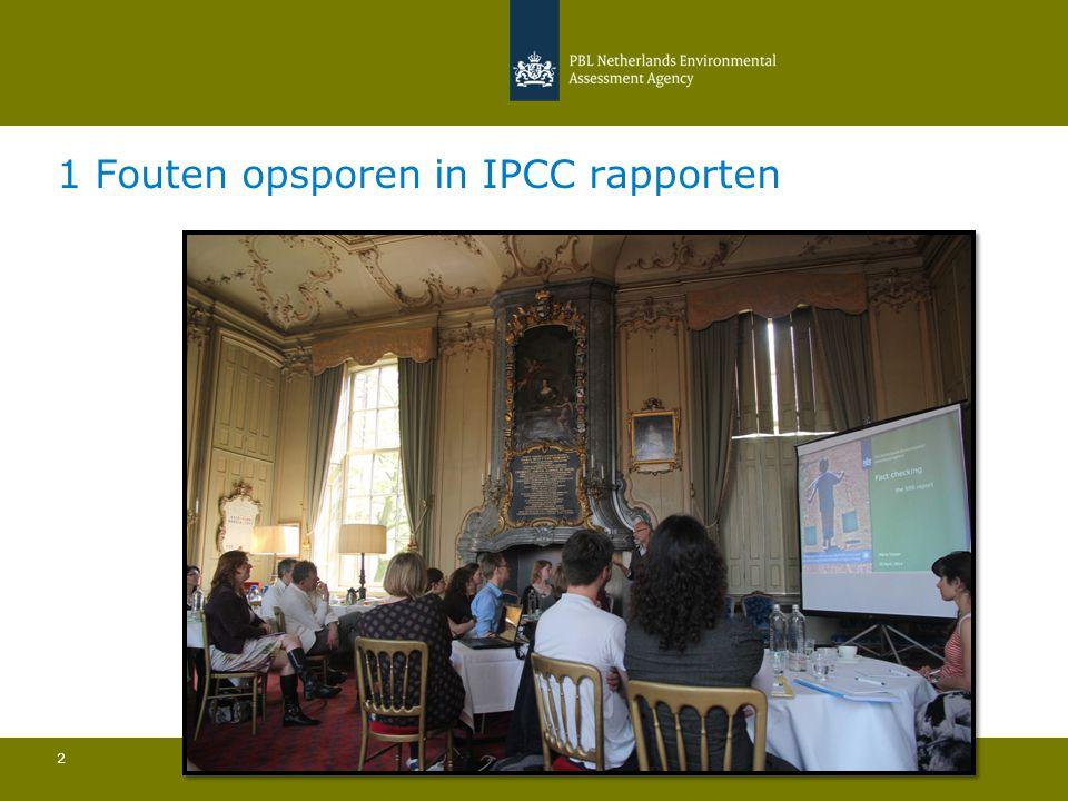 1 Fouten opsporen in IPCC rapporten 2