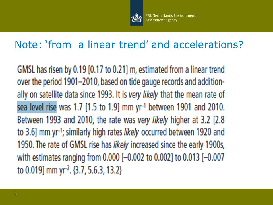 Note: 'from a linear trend' and accelerations 6
