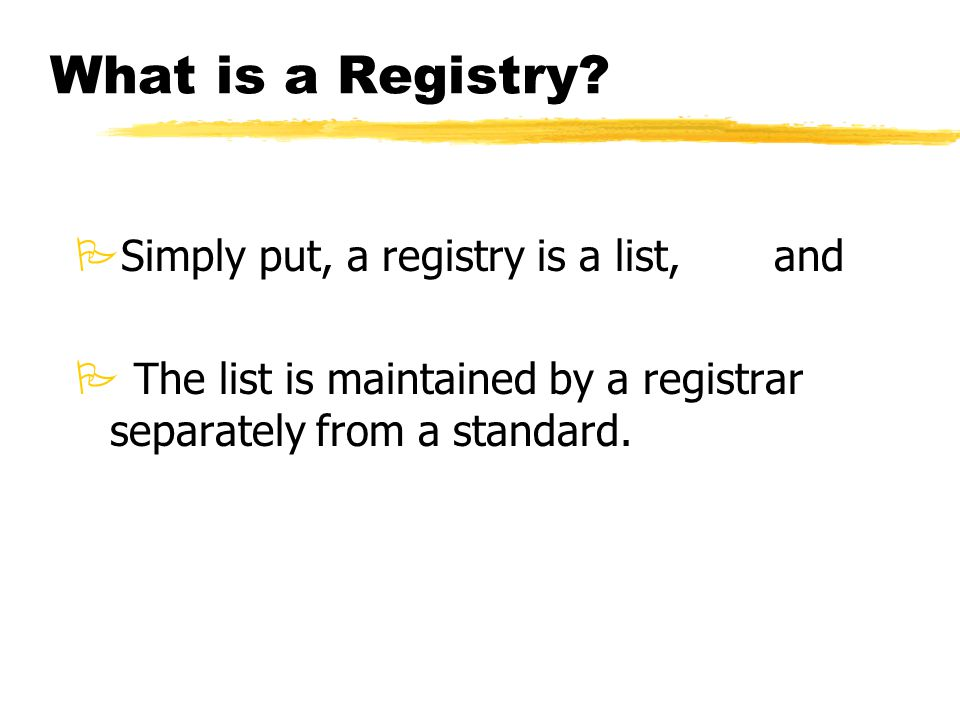 What is a Registry.