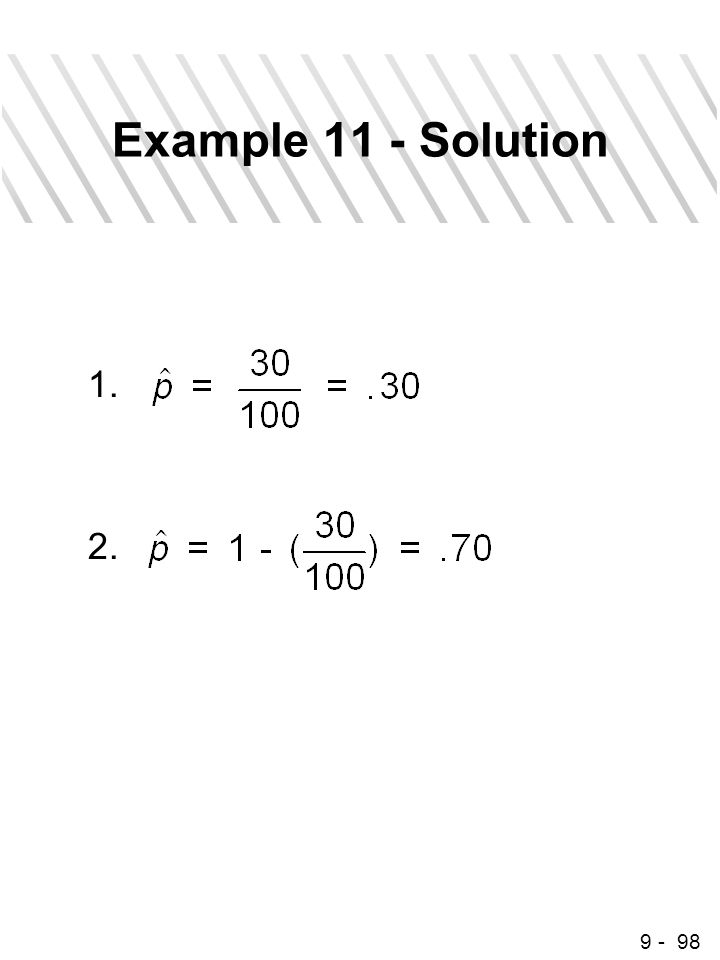 9 - 98 Example 11 - Solution 1. 2.