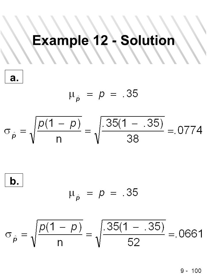 9 - 100 Example 12 - Solution a. b.