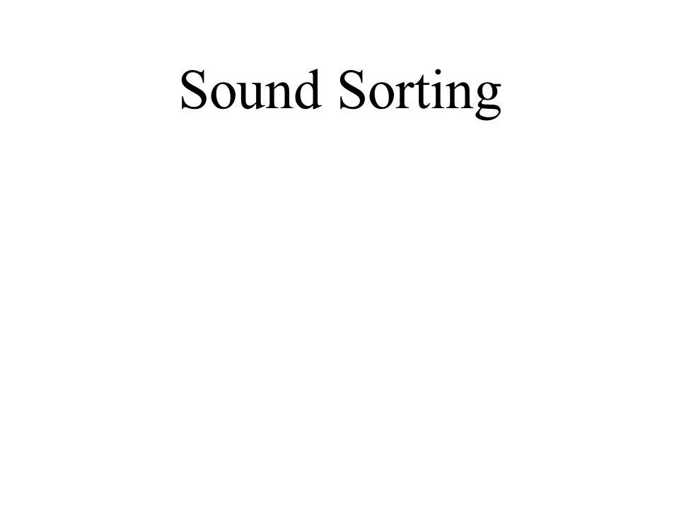 Sound Sorting