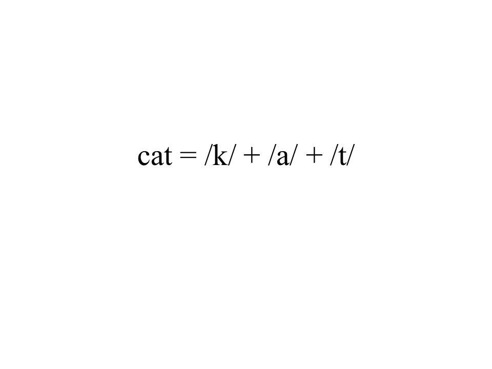 cat = /k/ + /a/ + /t/
