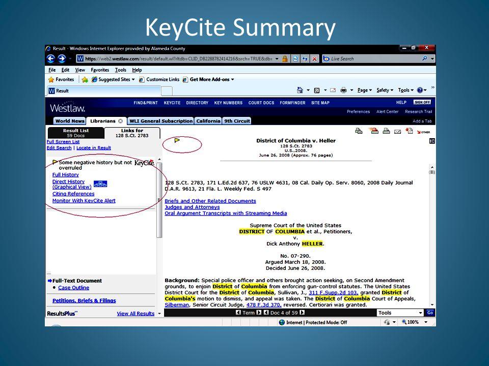 KeyCite Summary