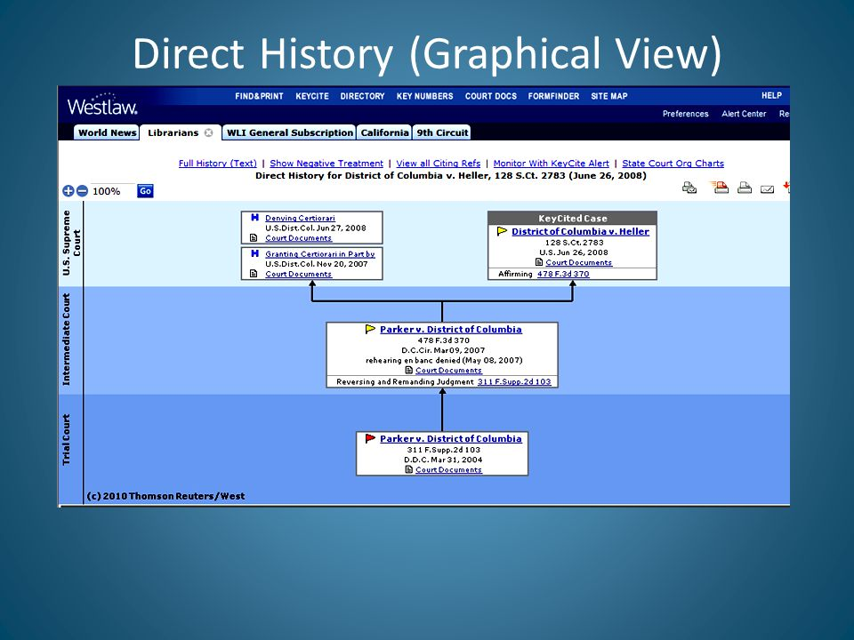 Direct History (Graphical View)