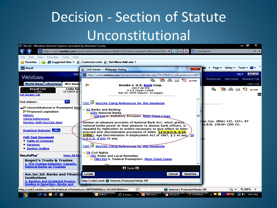 Decision - Section of Statute Unconstitutional