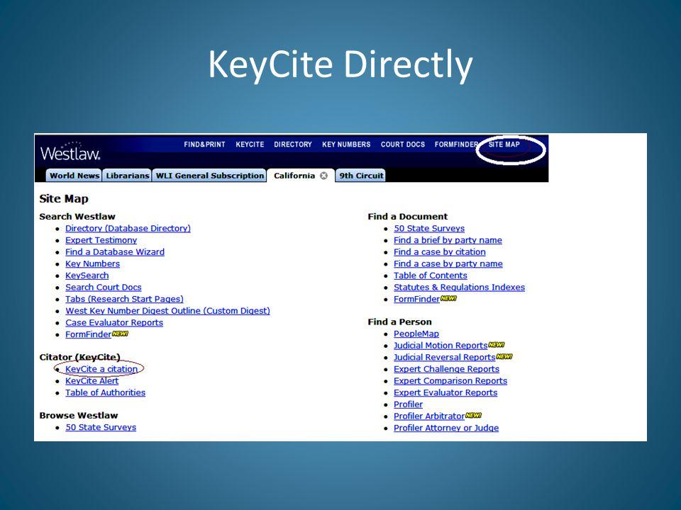KeyCite Status Flags for Statutes