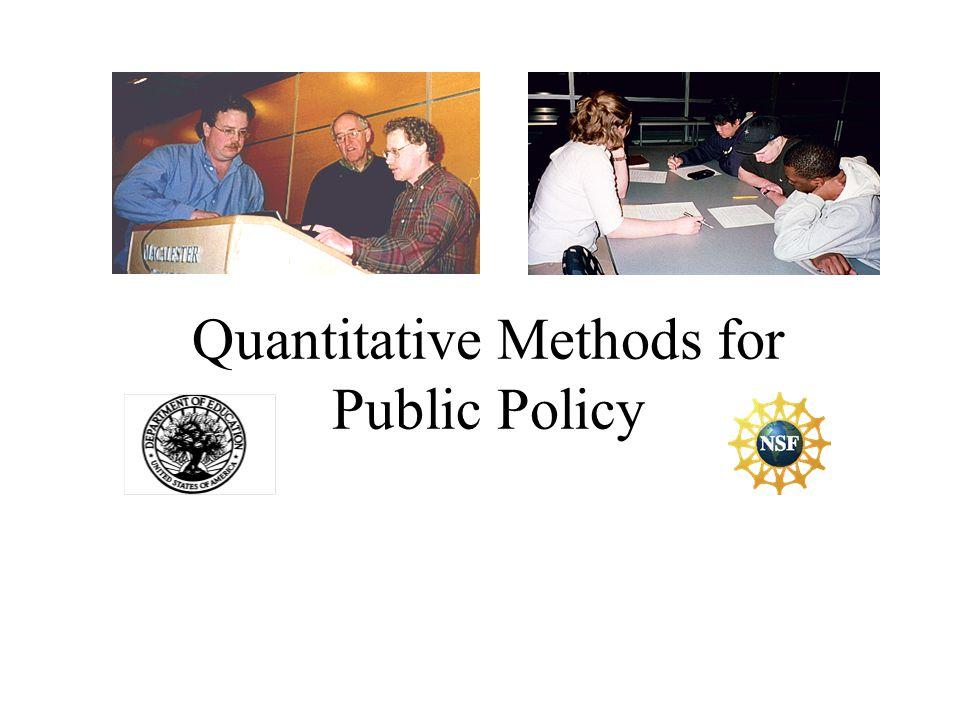 Quantitative Methods for Public Policy