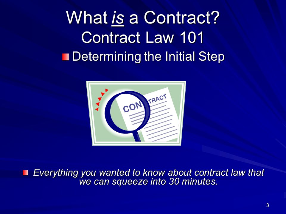 4 What is a Contract.