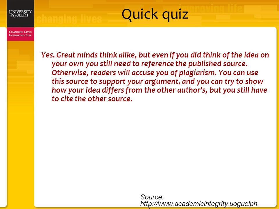 Quick quiz Yes.