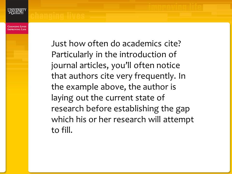 Just how often do academics cite.
