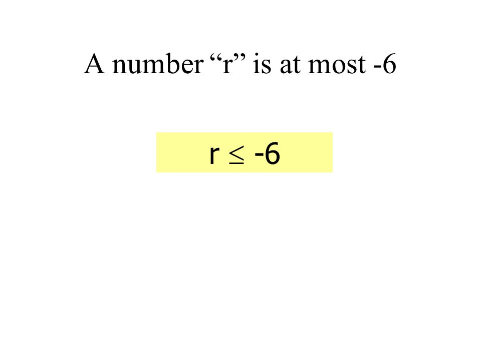 A number y is less than 4 y < 4 A number y is 3 less than 4 y = 4 - 3