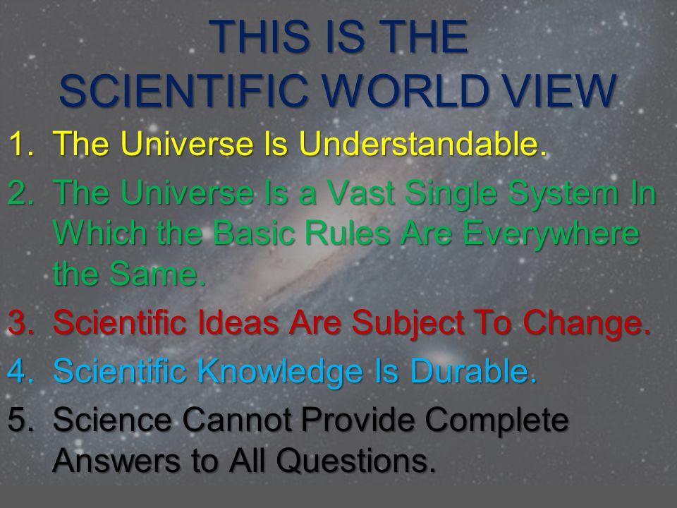 SCIENTIFIC LAWS AND THEORIES When the scientific community accepts a Law or Theory, it represents the best understanding of the explanations for the properties of a given system at that point in time A Scientific Theory represents our best understanding of the truth about some aspect of the universe, even though it is not proven as absolute and is still understood to be subject to future revision, or even to rejection