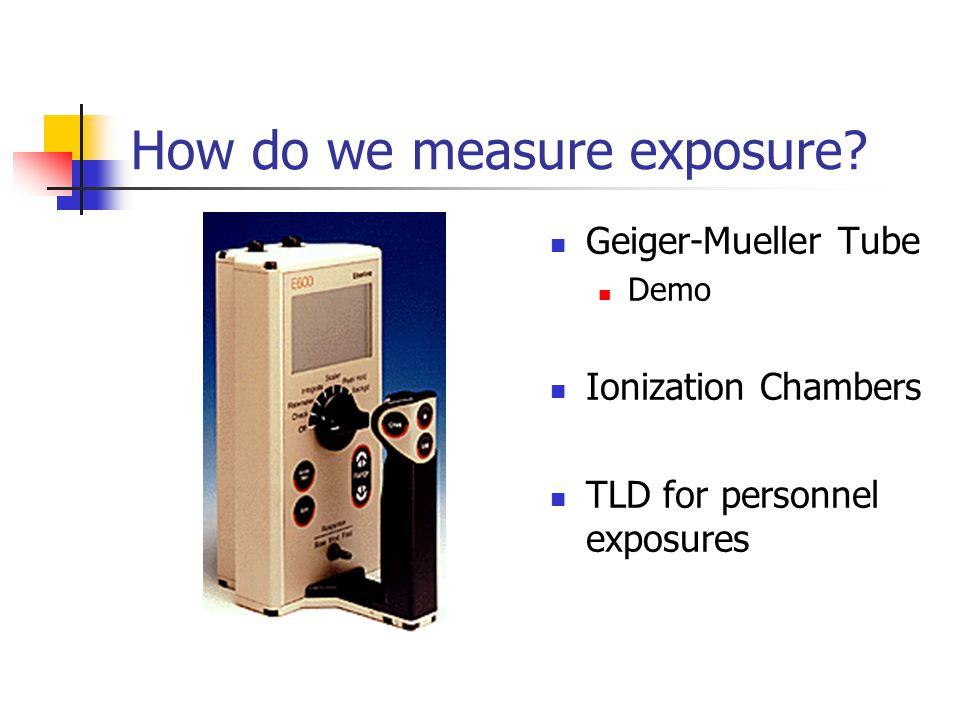 How do we measure exposure.