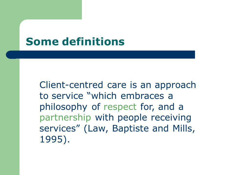 Summary Person-centred care is about placing the patient, client or person (including their family and carer/s) at the centre of their health care, with their needs and wishes as paramount.
