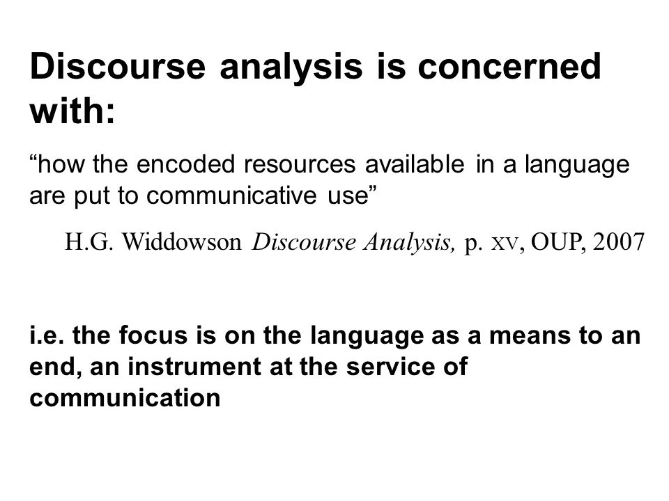 So what is discourse.