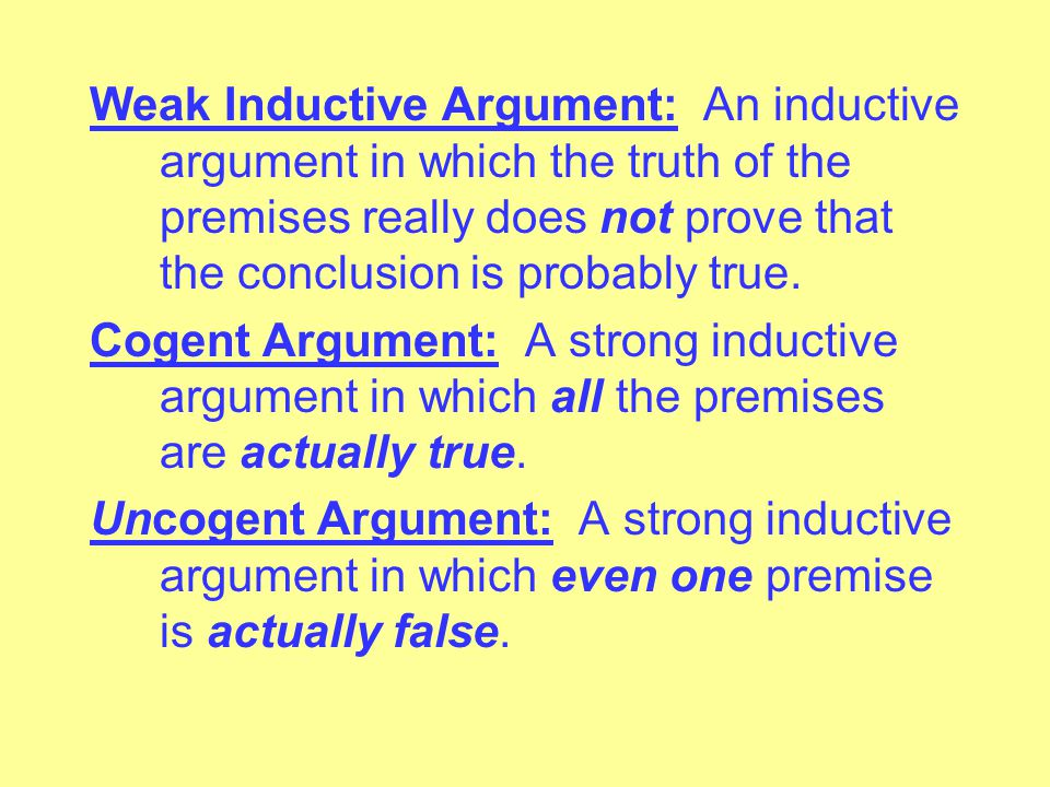 If A, then B.B. Therefore, A. Counter-Example: A way to show that an argument form is invalid.