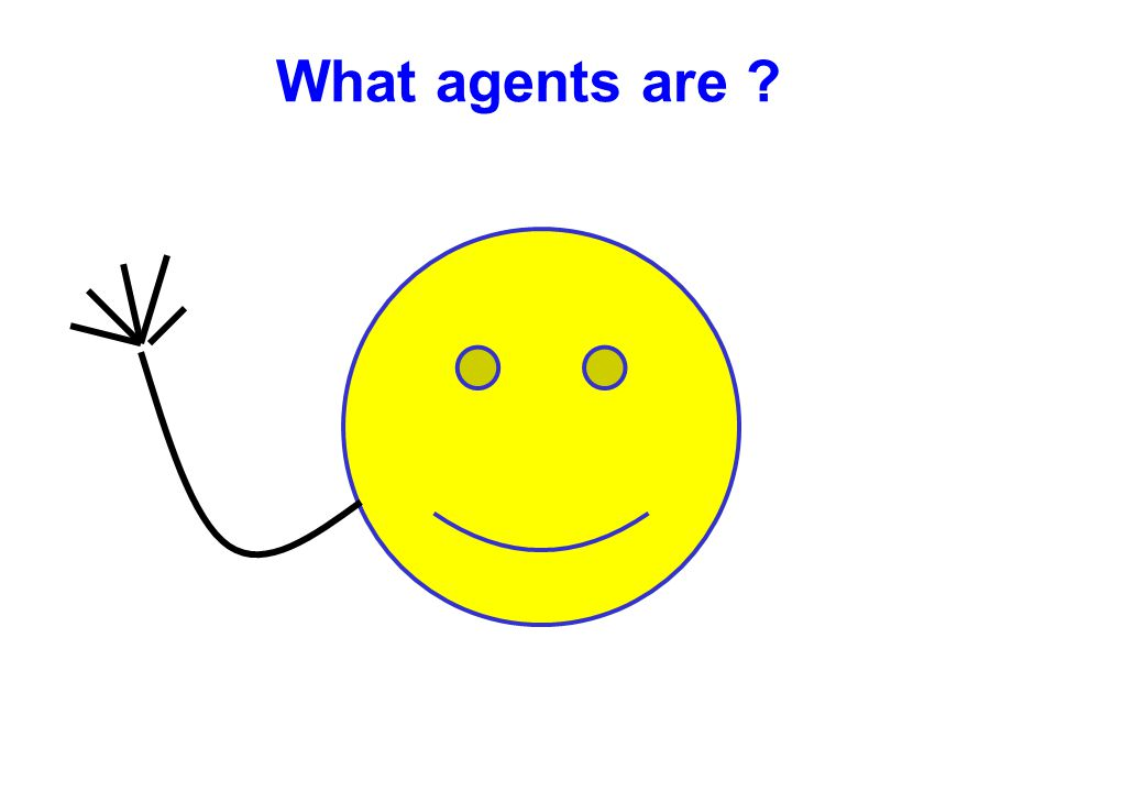 Objects & Agents Object Objects do it for free; agents do it for money sayHelloToThePeople() say Hello to the people Hello People! Agents control its states and behaviors Classes control its states