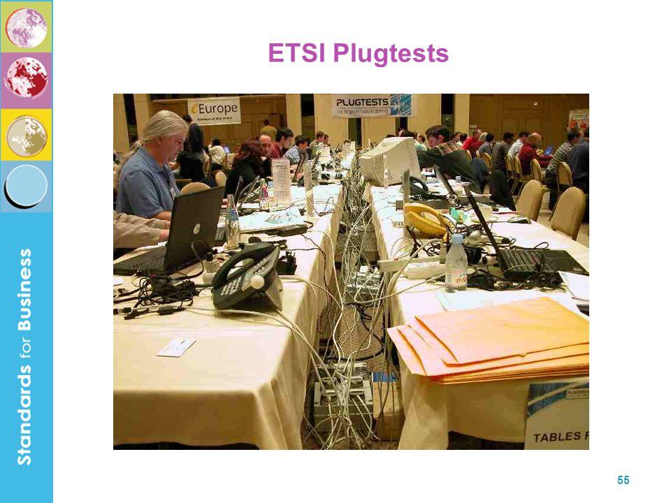 55 ETSI Plugtests