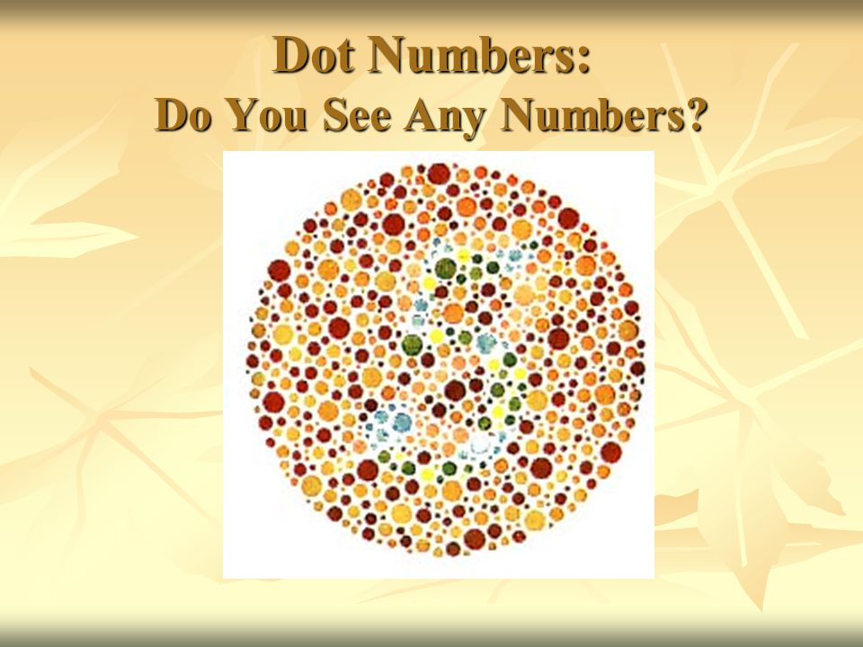 Dot Numbers: Do You See Any Numbers