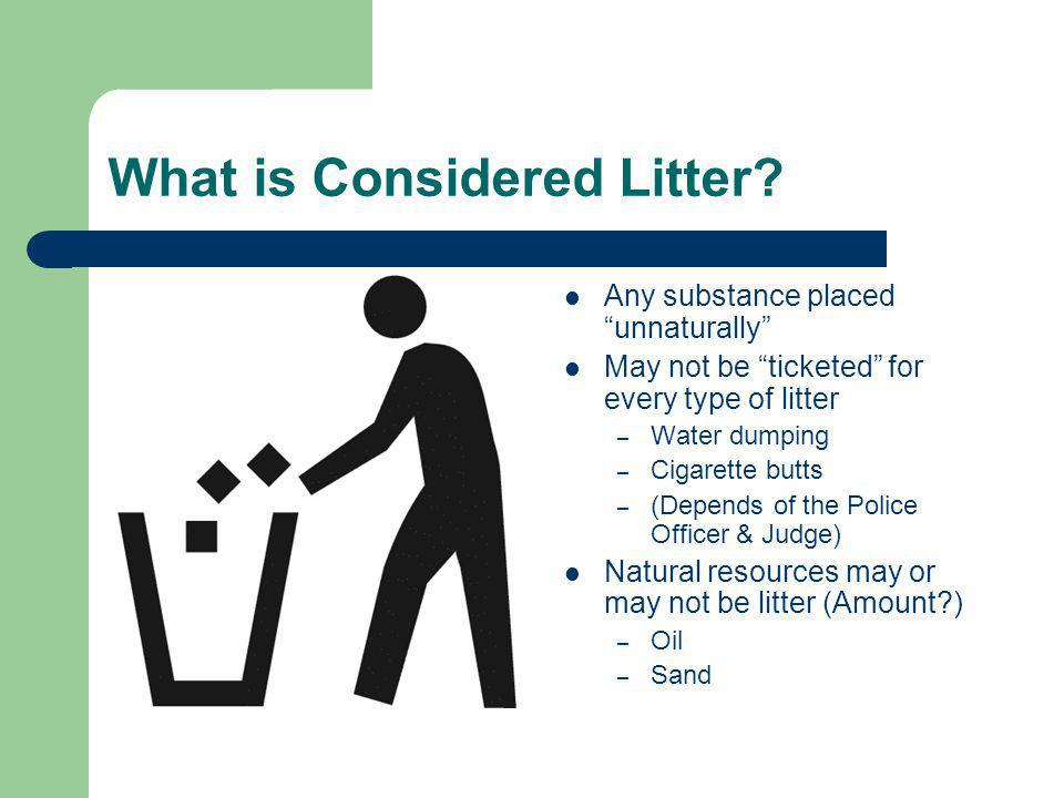 What is Considered Litter.