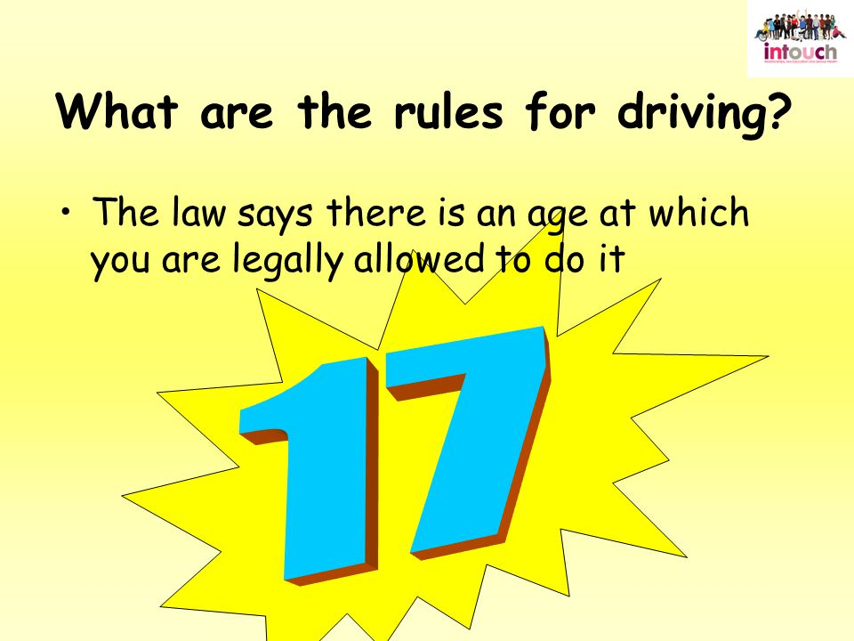 What are the rules for driving.