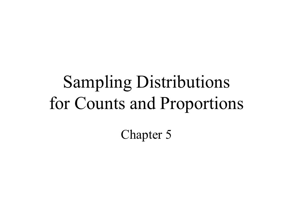 Sampling Distributions for Counts and Proportions Chapter 5