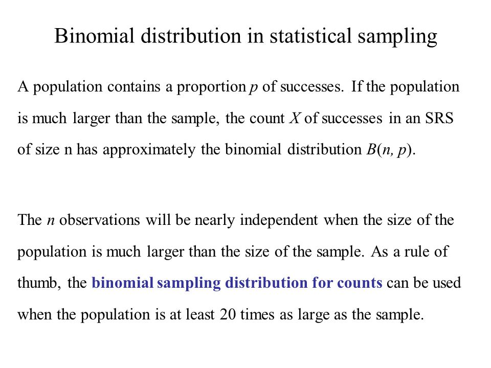 Reminder: Sampling variability Each time we take a random sample from a population, we are likely to get a different set of individuals and calculate a different statistic.