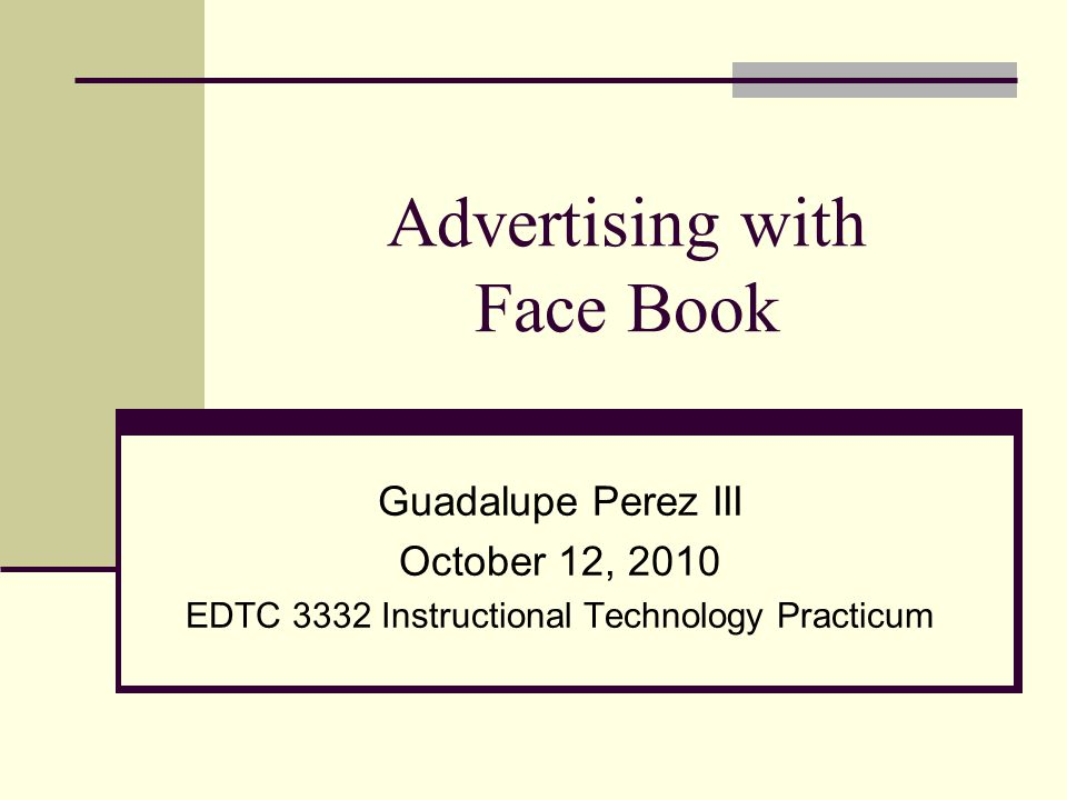 Needs Assessment: I will train the employees at One Stop Service Center on how to use Face Book to advertise weekly specials and communicate with customers through e-mail, the wall, or in real time using chatting.
