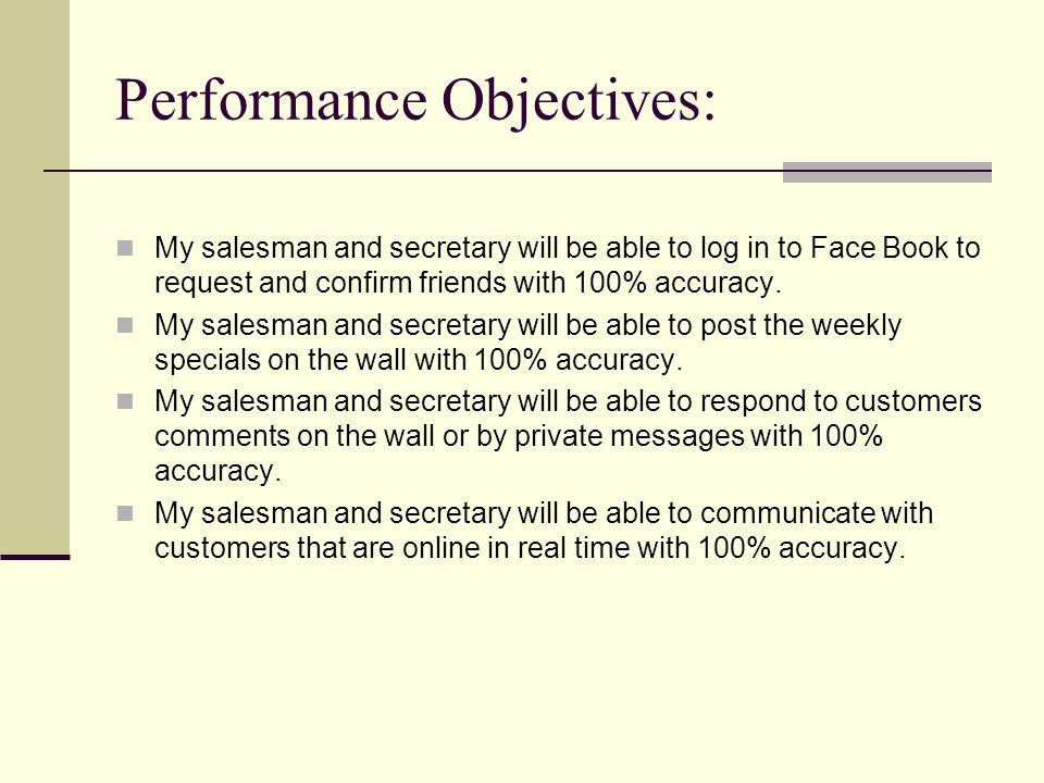 Assessment of Learning Outcomes: I plan to use pop up multiple choice and true and false questions on the training module to test whether the employee is understanding the material they are reading.