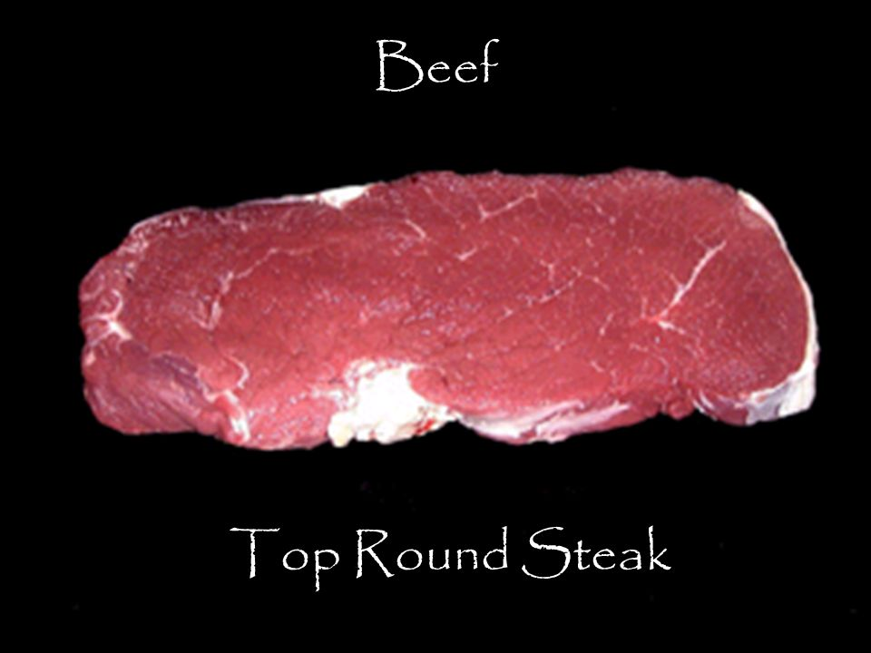 Beef Top Round Steak The Top Round Steak is the most tender of the various round steaks.