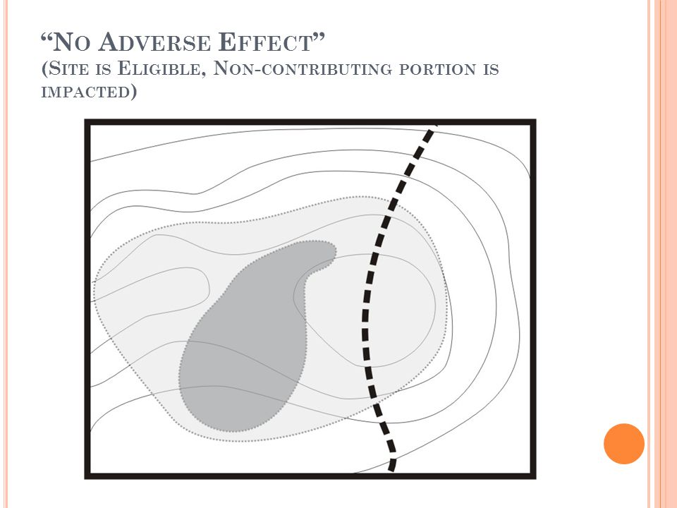 N O A DVERSE E FFECT (S ITE IS E LIGIBLE, N ON - CONTRIBUTING PORTION IS IMPACTED )