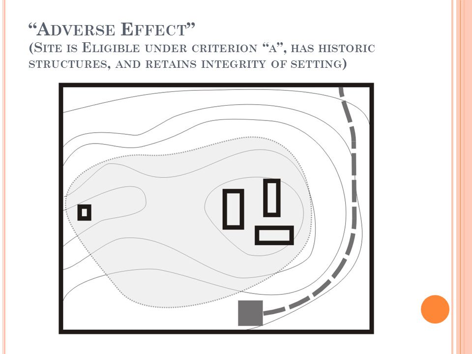 A DVERSE E FFECT (S ITE IS E LIGIBLE UNDER CRITERION A , HAS HISTORIC STRUCTURES, AND RETAINS INTEGRITY OF SETTING )